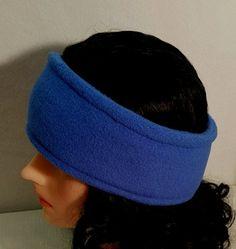 Royal Blue Fleece Headband, Royal Blue Ear Warmers, Blue Fleece Headband, Fleece Winter Ear Warmers, Blue Fleece Earmuffs, Womens Ear Warmer by StephFleeceDesigns on Etsy