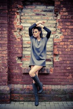 www.melismee.com Time Square tunic in grey and black Simple and classy