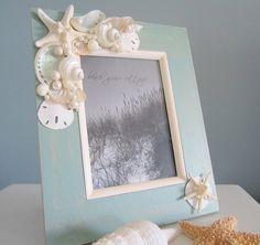 Beach Decor Shell Frame  Nautical Decor by beachgrasscottage, $60.00
