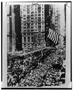 Vintage 1927, Charles Lindburgh's Ticker Tape Parade, NYC, www.RevWill.com