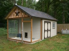 This may seem extravagant to some, but there are many practical reasons to need a doghouse that serves as more than just a roof over the head. Many people don't allow their large dogs inside the house unsupervised. Extremely hot or cold climates often make it necessary for animals to have their own backyard home away from home while their humans are at work or gone for the day. Photo Credit: www.forum.snipershide.com