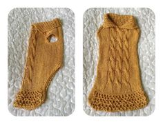 Dog Sweater Cable Knit