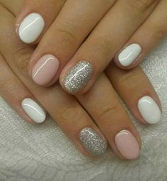 Amazing glitter nail art designs that you can own 04 Schellackn ร . - Amazing glitter nail art designs that you can own 04 Schellackn gel – own - White Nail Designs, Nail Art Designs, Nails Design, Shellac Nail Designs, Short Nail Designs, Girls Nail Designs, Pedicure Designs, Colorful Nail Designs, How To Do Nails