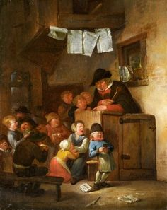 The Classroom - Egbert van Heemskerck the Elder - Lot 1097 - Result: - Find all details for this object in our online catalog! Nightmare Quotes, Peter Paul Rubens, Prayer Warrior, Catholic Saints, Daily Prayer, Child Life, Art History, Prayers, Childhood