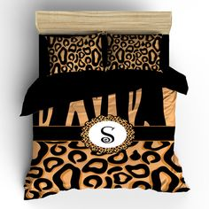 Cheetah Custom Bedding  Personalized  Available in  by redbeauty