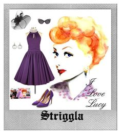 """""""Vintage"""" by striggla ❤ liked on Polyvore featuring Polaroid, Rupert Sanderson, I Love Lucy Signature Product, Dsquared2, Samira 13, Marina J., Dorothy Perkins, vintage, ilovelucy and swingdress"""
