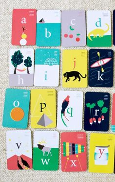 déco & jeux : Deuz - Fun Graphics - Ideas of Fun Graphics - alphabet cards This would be a fun project to get the students involved in Each student could create a card for a specific letter Design Web, Id Card Design, Game Design, Book Design, Design Cars, Alphabet Cards, Letter Flashcards, Abc Cards, Up Book
