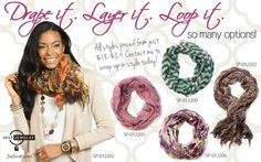 Contact me for your scarf www.facebook.com/justjewelrysherise  Catalogs www.justjewelry.com/sherise99