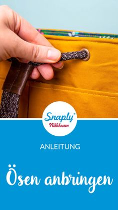Gebrauchsanleitung: Ösen anbringen mit und ohne Prym Vario-Zange Attach eyelets: Instructions & Tutorial for attaching eyelets with the Prym Vario pliers Techniques Couture, Sewing Techniques, Sewing Hacks, Sewing Tutorials, Sewing Tips, Sewing Ideas, Sewing Crafts, Leftover Fabric, Love Sewing