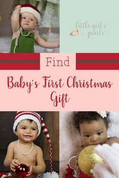So many cute ideas for baby's first Christmas gift from mom and dad or grandparents. Such lovely family heirloom keepsakes that she can pass down someday. Baby's First Christmas Gifts, Babies First Christmas, Pink Gift Box, Pink Gifts, Handmade Pearl Jewelry, Silver Jewelry, Baby Earrings, Christmas Jewelry, Little Girls