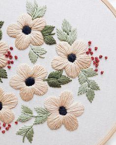 Summer Flowers Embroidery Pattern PDF Pattern Flower Hand