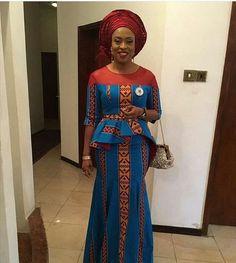 ~DKK ~ Latest African fashion, Ankara, kitenge, African women dresses, African p… African Print Dresses, African Dresses For Women, African Attire, African Wear, African Fashion Dresses, African Women, African Prints, Ankara Fashion, African Outfits
