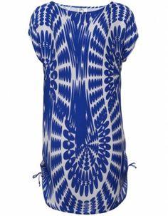 blue silk print