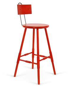 Like the shape and style of these stools--and color, though not sure it'd work Atlantic Barstool, Persimmon   Brand We Love   One Kings Lane