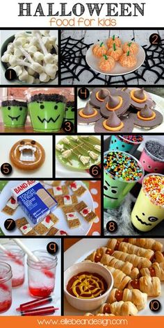 Halloween Food For Kids!  Best and Easiest list EVER! www.elliebeandesign.com