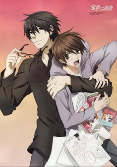 Sekai-ichi Hatsukoi is the name its a shojo!!!!! YAAAAA a sweet and funny storie.