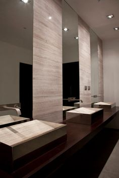 Natural stone counter top washbasin, Vasco by Alfredo Salvatori _