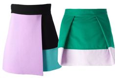 Color blocking skirt