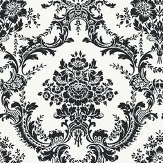 Shop allen + roth Black Strippable Non-Woven Prepasted Classic Wallpaper at Lowes.com