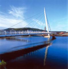 Swansea Sail Bridge, Swansea, Wales, UK