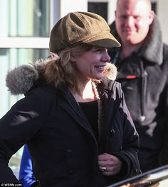 Ditching the glamour:Darcey Bussell stepped out make-up free as she headed back home