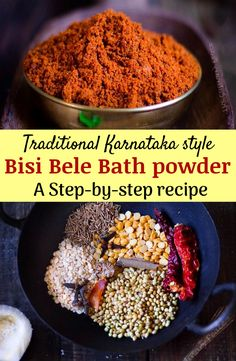 Do you want to make authentic tasting Karnataka special bisi bele bath? Did you know the heart of the recipe lies in the masala used? Check out the recipe of bisi bele bath powder and enjoy this super healthy, protein-rich meal. North Indian Recipes, South Indian Food, Indian Food Recipes, Vegetarian Recipes, Cooking Recipes, Indian Snacks, Cooking Tips, Healthy Recipes, Healthy Food Habits