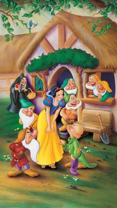 Wallpaper iphone disney snow white seven dwarfs 52 Ideas Disney Princess Snow White, Snow White Disney, Disney Princess Pictures, Snow White Movie, Snow White Art, Cartoon Wallpaper, Disney Phone Wallpaper, Kawaii Wallpaper, Disney Kunst