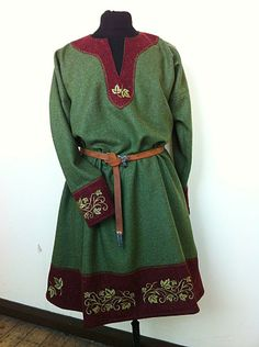 Men's tunic with embroidery Nice for a Viking or even a Norman persona