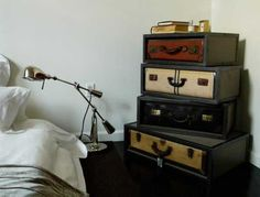 bedroom furniture chest with suitcase drawers