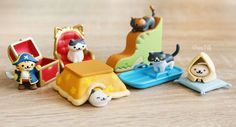 Gashapon kawaii - figurines de Neko Atsume authentiques - www.chezfee.com Votre boutique kawaii