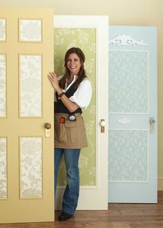 Easy Door Makeovers  Are your doors a bore? Transform an interior door with these easy-do ideas using paint, wallpaper, and decorative moldings. Our new Shopgirl, Leslie Segrete, shows you how.