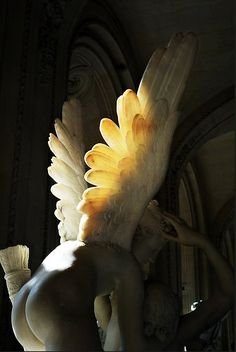 Cupid with His Wings on Fire, Le Louvre (2010) by Nan Goldin