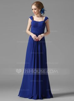Bridesmaid Dresses - $99.99 - A-Line/Princess Scoop Neck Floor-Length Chiffon Bridesmaid Dress With Ruffle (007013956) http://jjshouse.com/A-Line-Princess-Scoop-Neck-Floor-Length-Chiffon-Bridesmaid-Dress-With-Ruffle-007013956-g13956