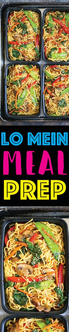 Lo Mein Meal Prep -