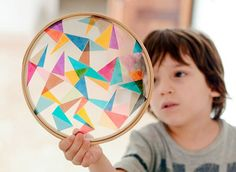 DIY Stained Glass Embroidery Hoops