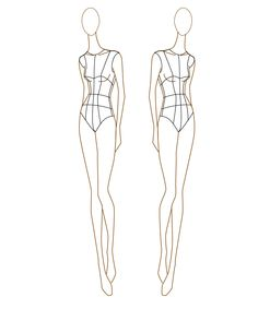 full figure croquis body figures accessories templates the