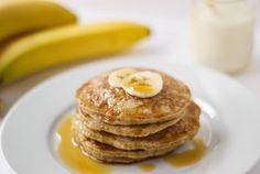 Banana Oatmeal Protein Pancakes {Gluten Free} - Family Food Forum