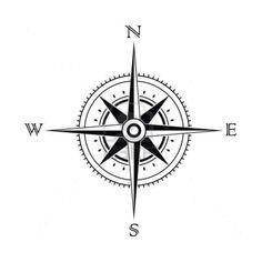 tatuaż róża wiatrów