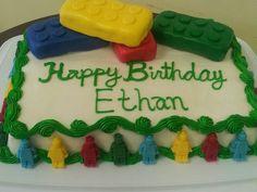 Lego themed birthday cake.