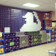 Supermarket can/bottle displays are awesome works of art (35 Photos)