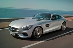 The muscular styling of the Mercedes-AMG GT S builds upon the impressive pedigree of its predecessors'. The side air outlets, each with two fins, are a modern take on a classic Mercedes-Benz feature. Porsche, Audi, Bmw, Maserati, Bugatti, Mercedes Benz Amg, Cool Sports Cars, Sport Cars, Nice Cars