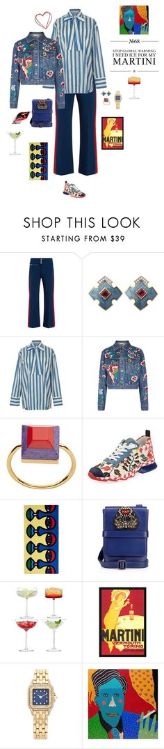 """Ice for my martini"" by mbarbosa ❤ liked on Polyvore featuring Gucci, MSGM, Alice + Olivia, Fendi, Lane Crawford, Christian Louboutin, LSA International, Amanti Art, Cartier and Alan Fears"