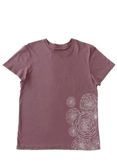 Flower Power: Hand Printed 100% Organic Cotton Original Mushpa + Mensa Design Whiskey Rose One Of A Kind T-Shirt #flowers #flowerpower #organiccotton #lesbianowned #alternativeapparel #mushpamensa #mushpaymensa #mushpa #mensa #freehand #organic #flower #magic #octopus Hem Stitch, Custom Fonts, Recycle Plastic Bottles, Alternative Outfits, Hanging Art, White Ink, Floral Flowers, Fabric Patterns, Octopus
