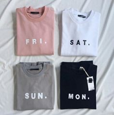 if only life were as easy as having one shirt for everyday for the week
