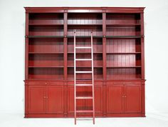 Block & Chisel bookcase with ladder