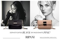 Ripani Icons Collection - model: CONCERTO #colors #inspiration #style #blacknpink http://goo.gl/dlbYPH