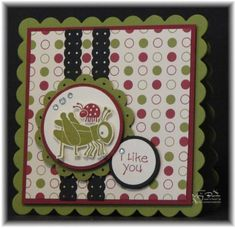 Polka Dotted Bugs CAS78 by stampercamper - Cards and Paper Crafts at Splitcoaststampers