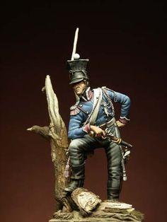 Tromba 3° reg. Eclaireurs tenuta da campaggna 1812 - Collezione Gaetano Ciotola