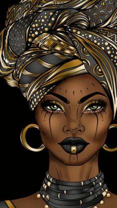 Black Couple Art, Black Love Art, Black Girl Art, Art Girl, Black Art Painting, Black Artwork, Afro Painting, African American Artwork, African Art Paintings