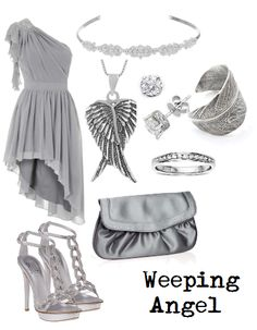 the weeping angel i dont know weather to pin this to doctor who board or fashion board oh well!////// Oh Lord I love it!